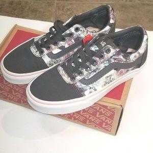 aaa30bbfcb2 Vans Shoes - VANS WARD SATIN FLORAL ROSE CLOUD